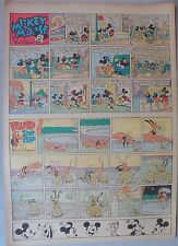 Mickey Mouse Sunday Page by Walt Disney from 4/30/1939 Tabloid Page Size