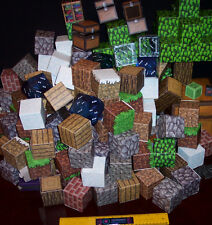 BIG LOT OF MINECRAFT BLOCKS - PAPER & PLASTIC - READY TO PLAY - FUN!