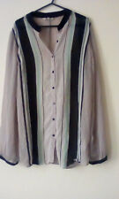 ladies,multi spotted blouse w/grandad collar,size16,never worn
