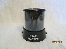 STAR MASTER LIGHT NIGHTLITE PROJECTOR BLACK BATTERY OPERATED NIB