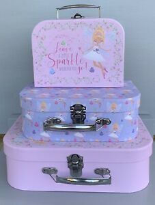 GIRLS FAIRIES STORAGE SUITCASES GIFT BOXES FAIRY CHILDRENS HOME LIVING CHRISTMAS