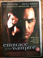 Embrace Of The Vampiro DVD 1994 Erótica Suspense Película de Terror con / Martin