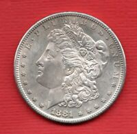 1881 USA SILVER MORGAN DOLLAR COIN. SAN FRANCISCO MINT. UNITED STATES OF AMERICA