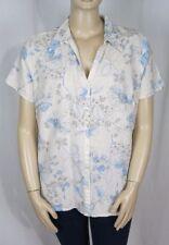 Plus Floral Button Down Shirt Short Sleeve Tops & Blouses for Women