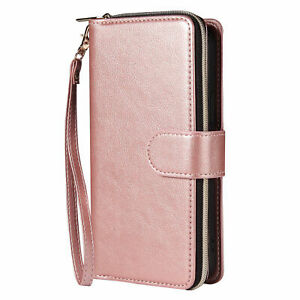 Zipper Leather Card Wallet Case Cover For iPhone 13 12 11 Pro Max XS XR 678 Plus