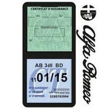 Porte vignette assurance ALFA ROMEO double étui voiture Stickers auto rétro