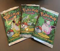 1999 Pokemon Jungle 3x Booster Packs * Full Art Set * HEAVY GUARANTEE, READ *
