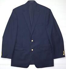 Lauren Ralph Lauren Blue Blazer 42L Navy Mens 2 Button Wool Lined Vented Long Sz