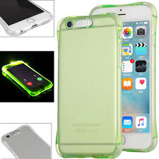 LED Flashing Shockproof Transparent TPU Case Cover For Apple iPhone X 6 7 8 Plus