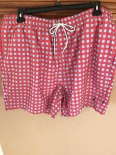 New With Tags FREE SHIPPING Nautica Checkered Men's Swim Trunks XXL SIZE