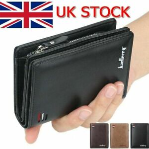 Men's Leather RFID Wallet Designer Card ID Protection with Zipper Coin Purse