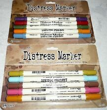 Tim Holtz Ranger DISTRESS MARKERS Lot of 2 Sets