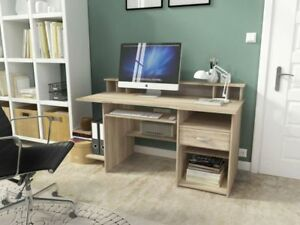 computer desk home office furniture workstation study table PC drawer keyboard