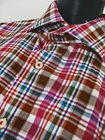 Peter Millar Men's Multicolor Long Sleeve Plaid Button Down Shirt Size XL.