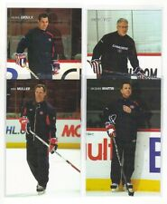 Montréal Canadiens sea 2009 2010  coaches cards lot Jacques Martin Kirk Muller