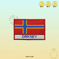 ORKNEY County Flag With Name Embroidered Iron On Sew On Patch Badge