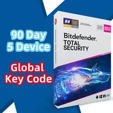 BitDefender Total Security 2021/2020 GLOBAL License Key 5 Devices 3 Months