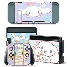 Japonés Cinnamoroll Lindo Switch Joy-Con Dock Consola De Vinilo Piel calcomanías con el logotipo de NUEVO