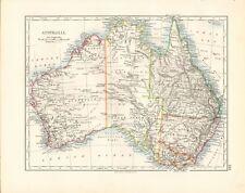 1897 ANTIQUE MAP- JOHNSTON - AUSTRALIA