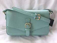 BNWT Forever 21 Faux Leather Mint Green Aqua Crossbody Bag w/ Gold Hardware