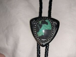 Vintage Turquoise(Candelaria,New Mexico 30mm x 20mm) Bolo Tie