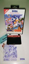 SEGA Master System Spiel SONIC THE HEDGEHOG CHAOS RetroGame CIB
