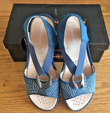 ddc8f3138d69 Cushion Walk Ladies leather lined Blue Wide Fit E upto Extra wide fit EEE  Sandal