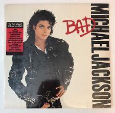 Michael Jackson - BAD - SEALED 1987 1st Press w/ Hype Sticker Vinyl LP E 40600