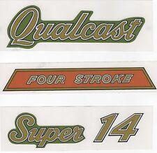 Qualcast Super14 'Four Stroke' Vintage Mower Repro Decals