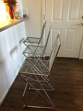 Designer Bar Stool by Till Behrens, Perfect Style for a Loft, Chrome, Numbered