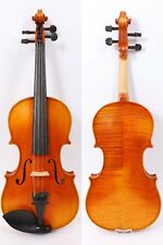 3/4 Violin Tiger Flame maple Professional Sound With Case Bow Child Gift
