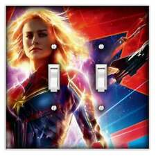 Captain Marvel Decorative Double Toggle Light Switch Cover - Switch Plate Cover