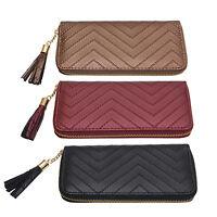 Lady Women PU Leather Card Holder Case Zip Long Wallet Clutch Purse Handbag Bag