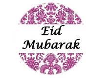 35 Eid Mubarak Stickers Purple Muslim Islam Ramadan Decorations Gift 208