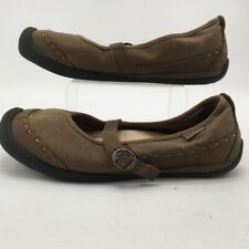 Keen Womens Midori Mary Jane Shoes Brown Stitched Adjustable Buckle 10