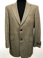 Austin Reed Wool Tweed Sport Coat Worsted Houndstooth Elbow Patch 40 R NWT $295