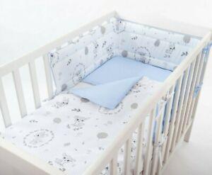 BLUE BABY DEER NURSERY BABY BEDDING SET +MORE UNIQUE DESIGNS- FIT COT OR COT BED