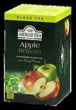 Ahmad Tea Black Tea Apple Refresh 6 boxes of /20 ct Tea Bags, Item #694 NEW