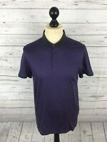 TED BAKER Polo Shirt - Size 3 Medium - Purple - Great Condition