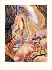 Affiche Offset Manara Femme et cochons, Manara