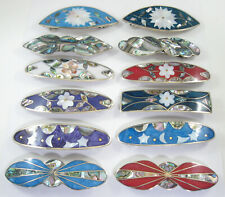 """Wholesale hair clip / barette shell inlay 3 1/2"""" long 12 pieces"""