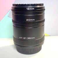 Vivitar Auto Extension Tubes For Olympus Om Mount Lens 36-20-12mm Set Of 3 Lomo,