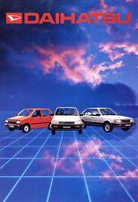 Daihatsu Prospekt 1985 brochure prospectus Cuore Charade Charmant Autoprospekt