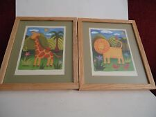 Sophie Harding Two Matted and Framed Signed Art Prints