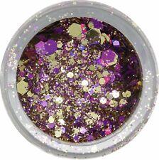 Glittermix Lila - Gold. 2,5g Glitzer und Pailletten