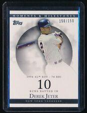 DEREK JETER 2007 TOPPS MOMENTS AND MILESTONES RBI 10 150/150 *NEW YORK YANKEES*