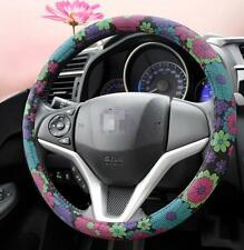 New Cute PU Leather Non-slip Steering Wheel Cover Comfortable 38cm for Girls