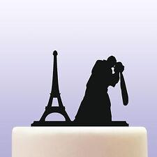 Eiffel Tower Bride & Groom Acrylic Wedding Cake Topper Decoration & Keepsake