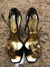 Limited Edition Rodo Gold Flower Heels NIB