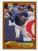 2002 Topps #201 MANNY MACHADO San Diego Padres BASEBALL CARD - 2020 Archives